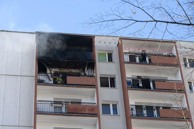Poznań. Osiedle Kopernika: pożar w wieżowcu