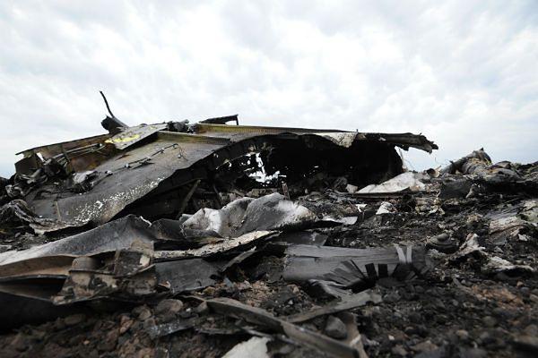 Szczątki zestrzelonego Boeinga 777