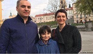 Oleh i Natalia Korpanowie z córką Martą