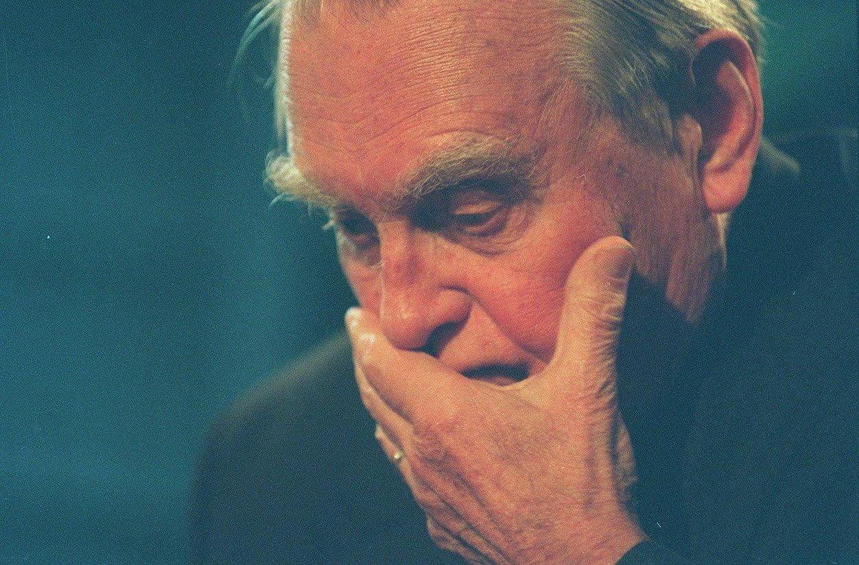 Poeta Czesław Miłosz w 1996 r.