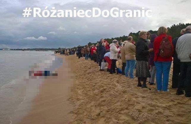 Ktoś przerobił zdjęcie z modlitwy na plaży