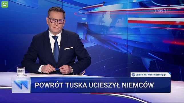"""""""Wiadomości"""" TVP sugerowały m.in., że za powrotem Tuska do polskiej polityki stoją Niemcy"""