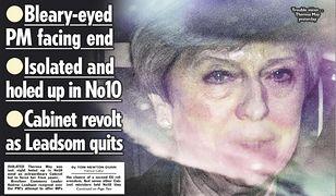 Brytyjska prasa nie ma wątpliwości, że premier Theresa May niebawem odejdzie