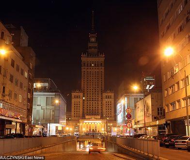 """PKiN w Warszawie w czasie """"Godziny dla Ziemi"""""""