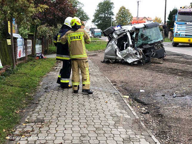 Konarzyce. Wypadek z udziałem dwóch ciężarówek