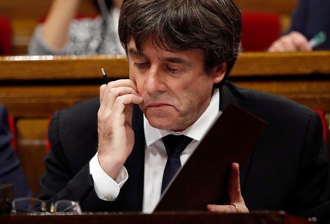 Carles Puigdemont nie odpowiedział na żądania hiszpańskiego rządu