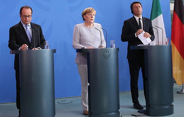 Brexit. Merkel, Hollande i Renzi: żadnych rozmów z Wielką Brytanią bez wdrożenia artykułu 50. traktatu