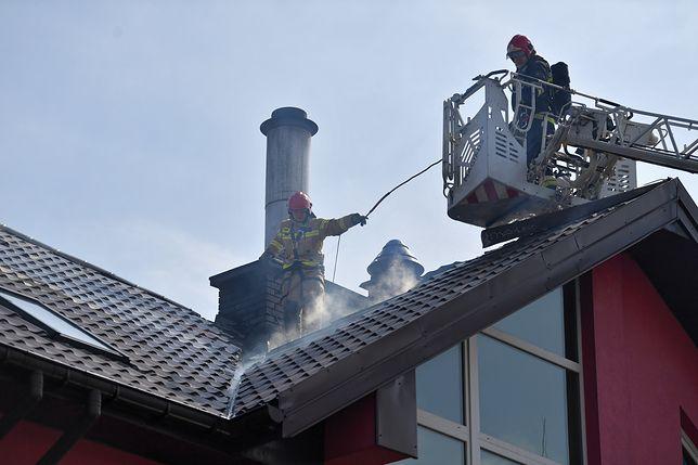 Do akcji wysłano pół setki strażaków (PAP/Paweł Supernak)