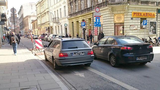 Wjazd do stref A i B w Krakowie bez pozwolenia nie będzie już bezkarny. Ul. Krupnicza.