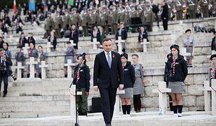 Andrzej Duda podczas obchodów 75. rocznicy bitwy o Monte Cassino