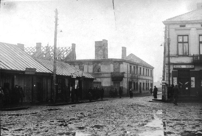 Wojenne zniszczenia miasta, Skierniewice rejon ul. Gałeckiego
