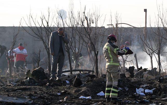 Iran. Ukraina będzie szukać odłamków rakiety. Nowe wideo z momentu katastrofy