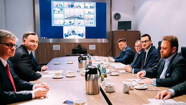 Koronawirus w Polsce. Briefing prezydenta Andrzeja Dudy po spotkaniu w BBN