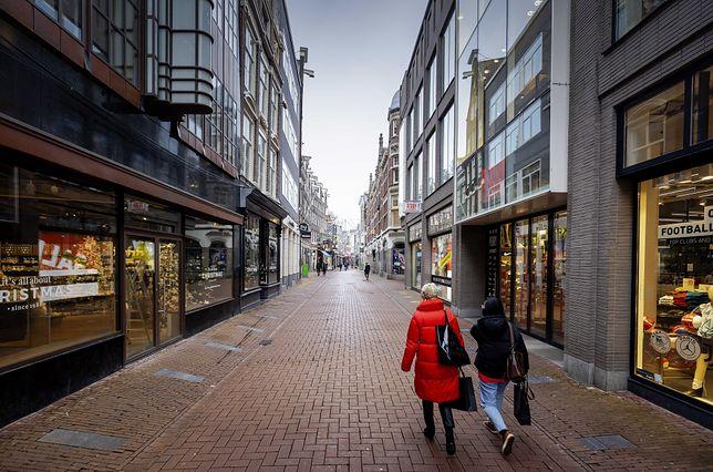 Koronawirus w Europie. Lockdown w Holandii - ulice Amsterdamu
