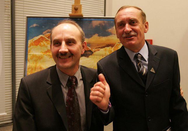 Leszek Cichy i Krzysztof Wielicki w 2005 roku podczas spotkania w Centrum Olimpijskim