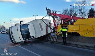 Śląsk. Niebezpiecznie na drogach, kilka groźnych wypadków z udziałem tirów