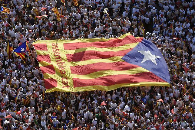Demonstracja zwolenników niepodłegłości Katalonii w Barcelonie.
