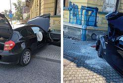 Opolskie. BMW wbiło się w kamienicę w Kędzierzynie-Koźlu