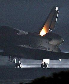 Lądowanie promu Endeavour