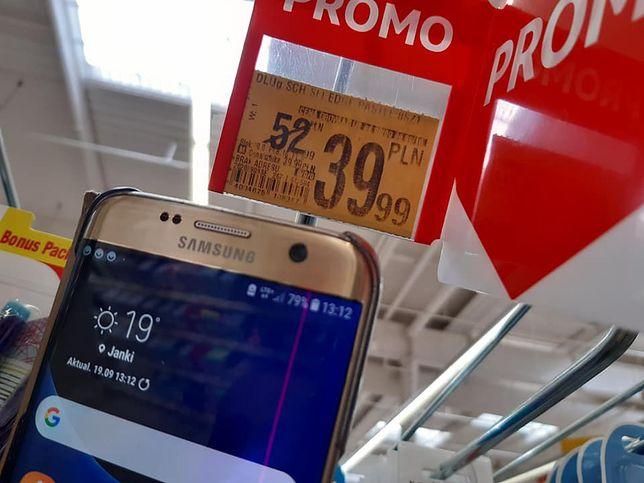 Zdjęcie ze sklepu Auchan w Jankach przesłane przez panią Kasię. Zakupy robiła 19 września, a promocja obowiązywała do 16 września.