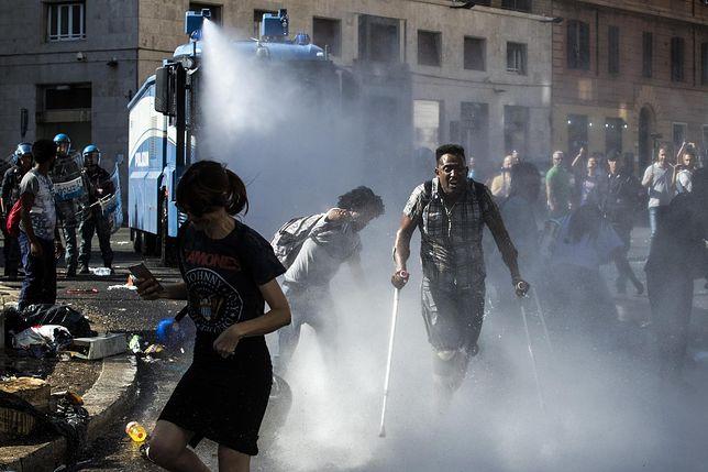 Rzym: Starcia eksmitowanych imigrantów z policją