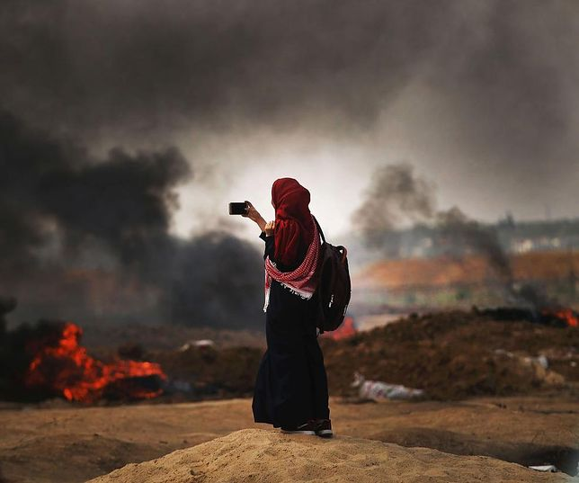 Izrael rozpoczął ostrzał Strefy Gazy. USA uznały status Wzgórza Golan