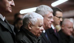 Jarosławowi Kaczyńskiemu towarzyszył m.in. Mateusz Morawiecki