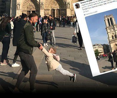 To zdjęcie katedry Notre Dame Brooke Windsor zrobiła niespełna godzinę przed pożarem