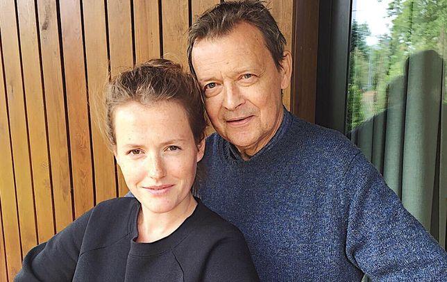 Olga Frycz i jej ojciec Jan Frycz
