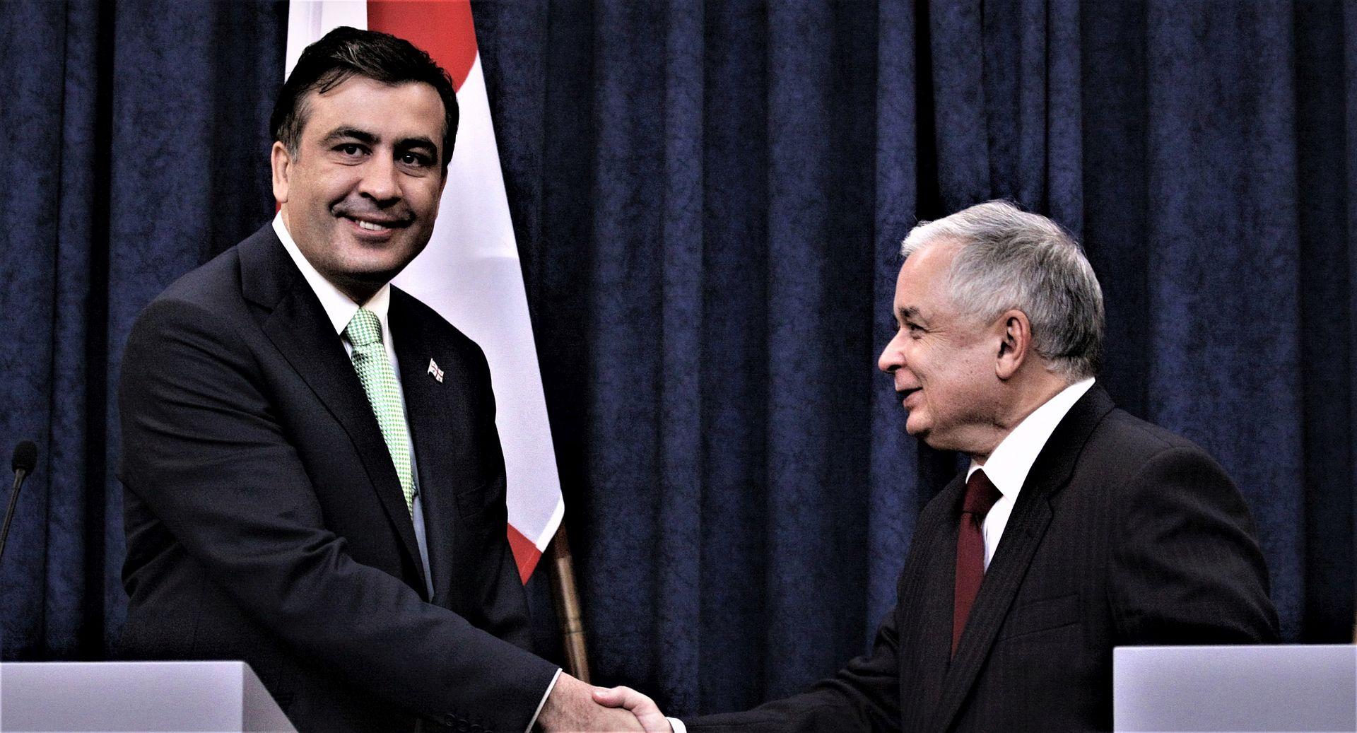 Micheil Saakaszwili i śp. Lech Kaczyński