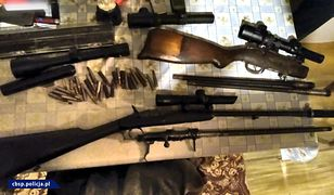 Pociski moździerzowe, granaty i karabiny. Policja przejęła cały arsenał broni