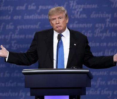 Donald Trump na prezydenckiej debacie, 26 września 2016 r.