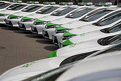 Hybrydowe Toyoty Auris jako taksówki