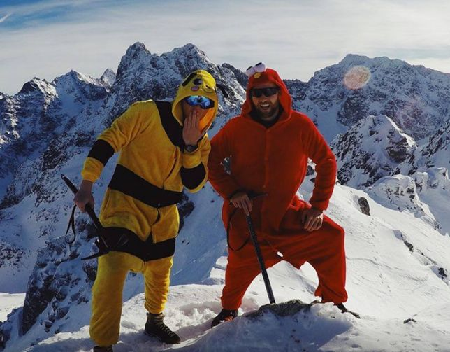 Elmo i Pikachu zdobyli Tatry. Internauci zachwyceni pomysłowymi turystami