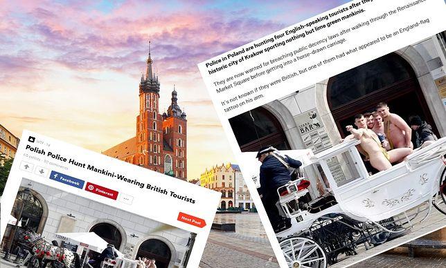 Nadzy na Krakowskim Rynku. Media nagłaśniają sprawę