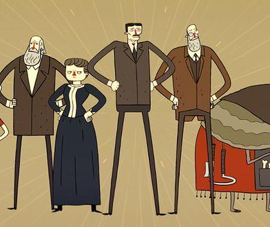Maria Curie-Skłodowska w internetowej kreskówce
