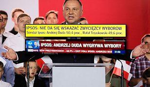 Andrzej Duda i Rafał Trzaskowski tuż po II turze wyborów prezydenckich