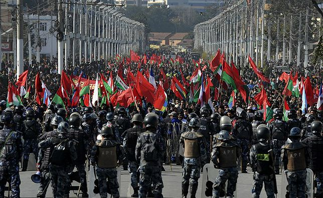 Protest nepalskich komunistów