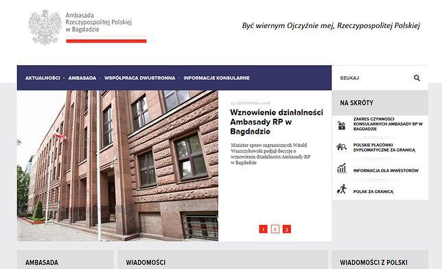"""""""Nieautoryzowany adres"""" mógł być umieszczony na stronie ambasady od 2014 r."""