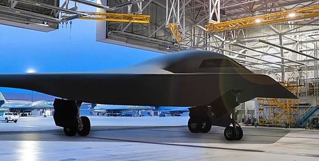 Bombowiec Stealth B-21.