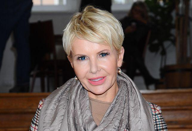 Joanna Racewicz na pokazie Łukasza Jemioła