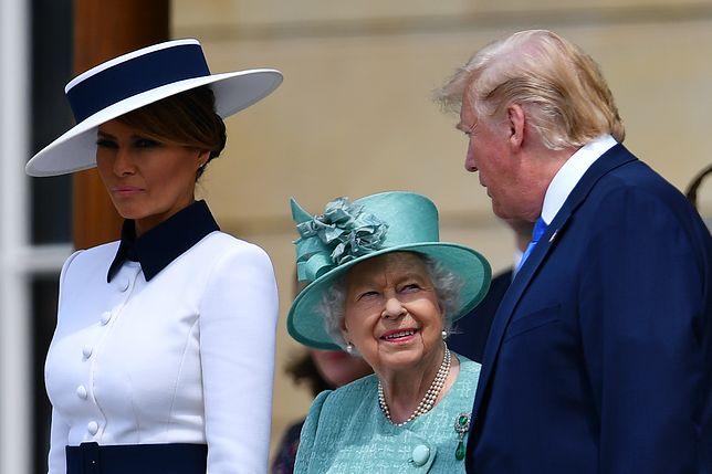 Prezydent USA Donald Trump składa wizytę w Londynie