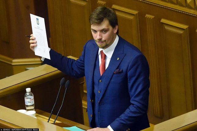 Premier Ukrainy Ołeksij Honczaruk podał się do dymisji. Powodem wyciek nagrania