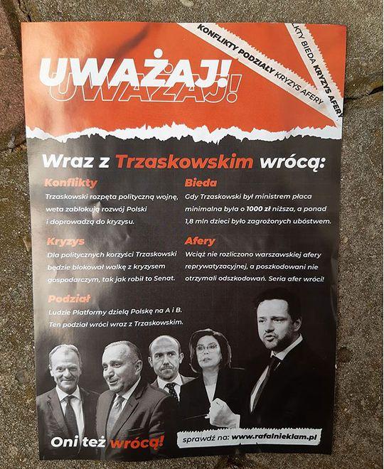 Wybory 2020. Poczta Polska rozprowadza ulotki, które straszą Rafałem Trzaskowskim