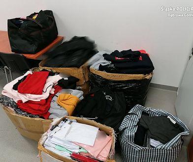 Dąbrowa Górnicza. Handlowali podróbkami. Policja przejęła blisko 2000 sztuk odzieży