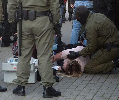 Białoruś. Co najmniej 159 osób zostało zatrzymanych podczas manifestacji w Mińsku