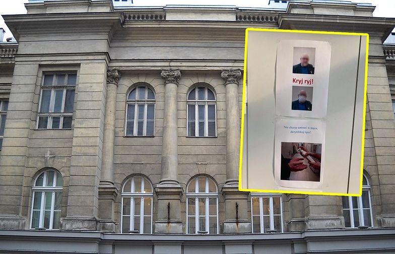 Studenci zniesmaczeni. Zdjęcia z Politechniki Warszawskiej