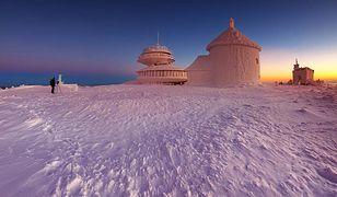 Śnieżka zimą, Karkonosze