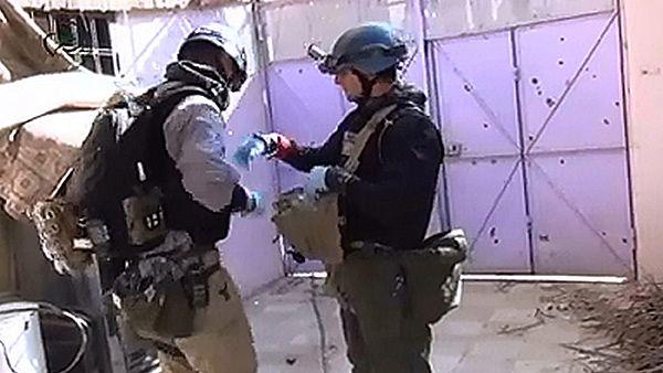 Inspektorzy OPCW w Syrii - kadr z syryjskiej telewizji państwowej