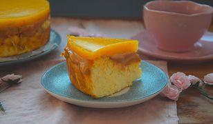 Sernik z mango i kajmakiem